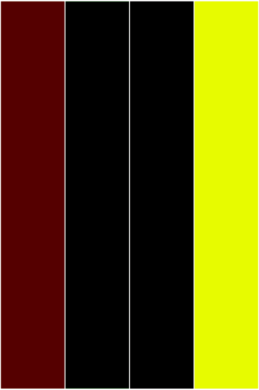 Maroon Black Yellow Solid Colored Bookmarks from Greeting Cards