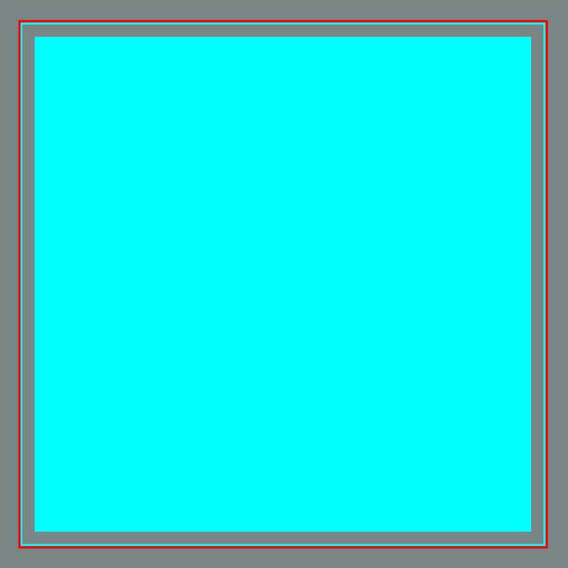 Light Blue Square with Gray Frame