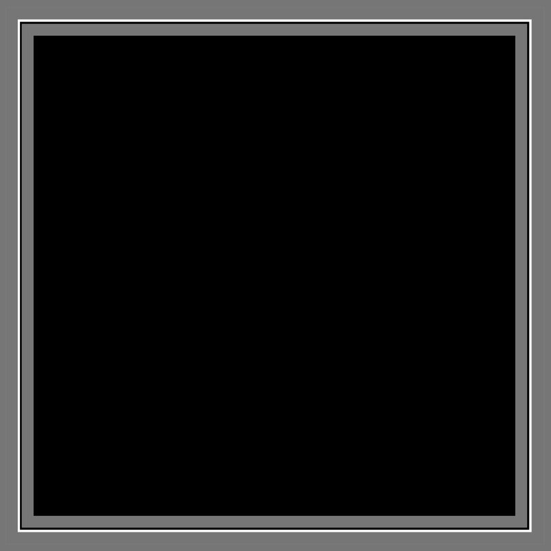 Black Square with Gray Frame