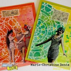 Summer mixed media cards