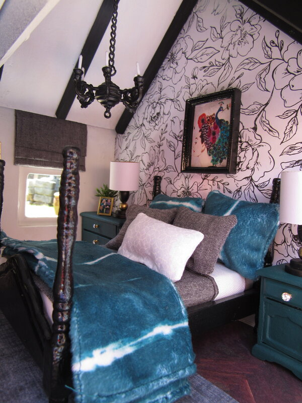 Dollhouse Bedroom Wallpaper