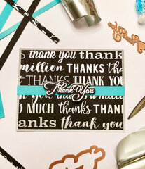 Silver Foil Thank You Card