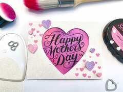 Mother's Day Glitter Heart Card