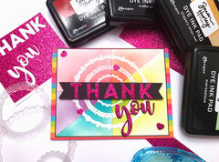 Rainbow Blend Thank You Card