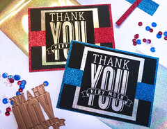 Glimmer Foil Thank You Cards