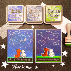Lawn Fawn Constellation Cards