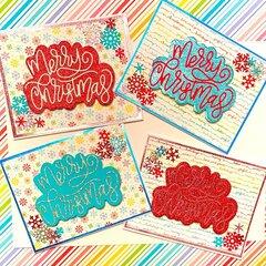 Rainbow Christmas Cards
