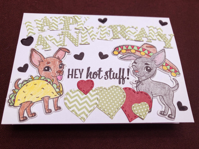 Chihuahua Anniversary Card