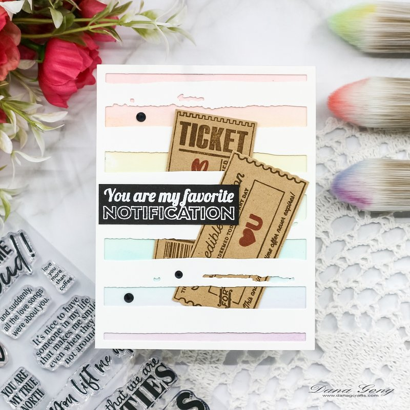 Rainbow Ink Blending Card