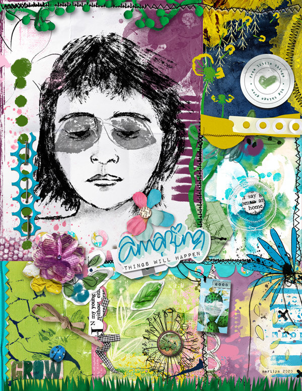 Mixed Media Monthly - May 2020 + add-ons