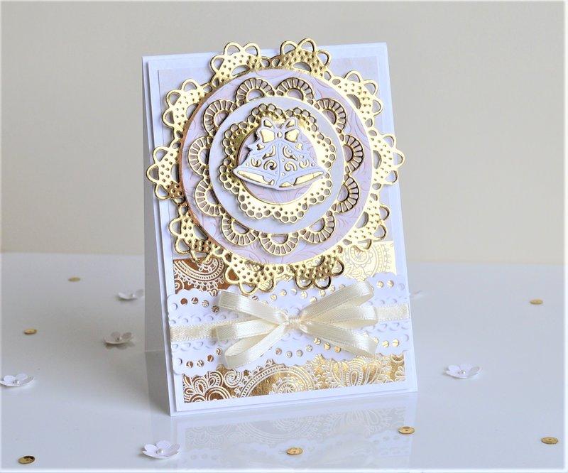 Glowing wedding card