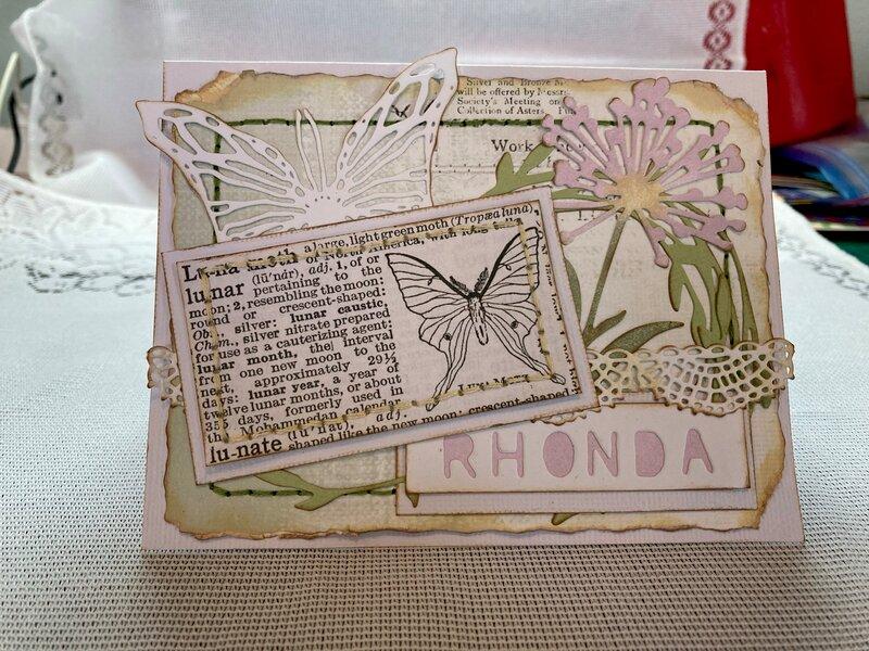 Birthday card -Rhonda