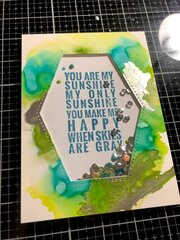 You are my sunshine shaker card