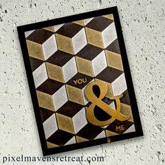 Cube Builder Stencil (Altenew) metallic