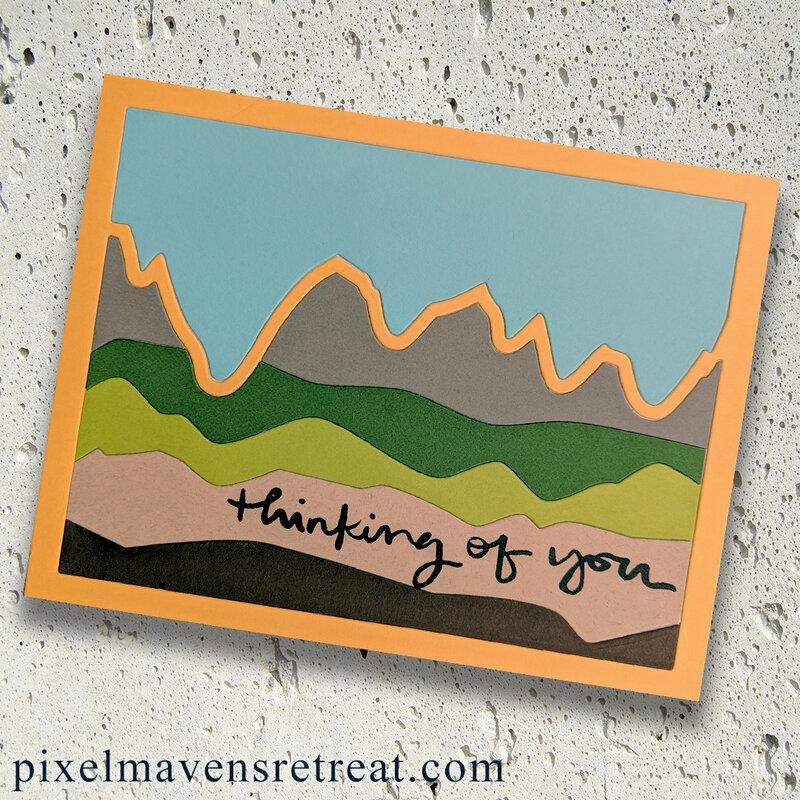Thinking of You Landscape - Waffle Flower/scrapbook.com