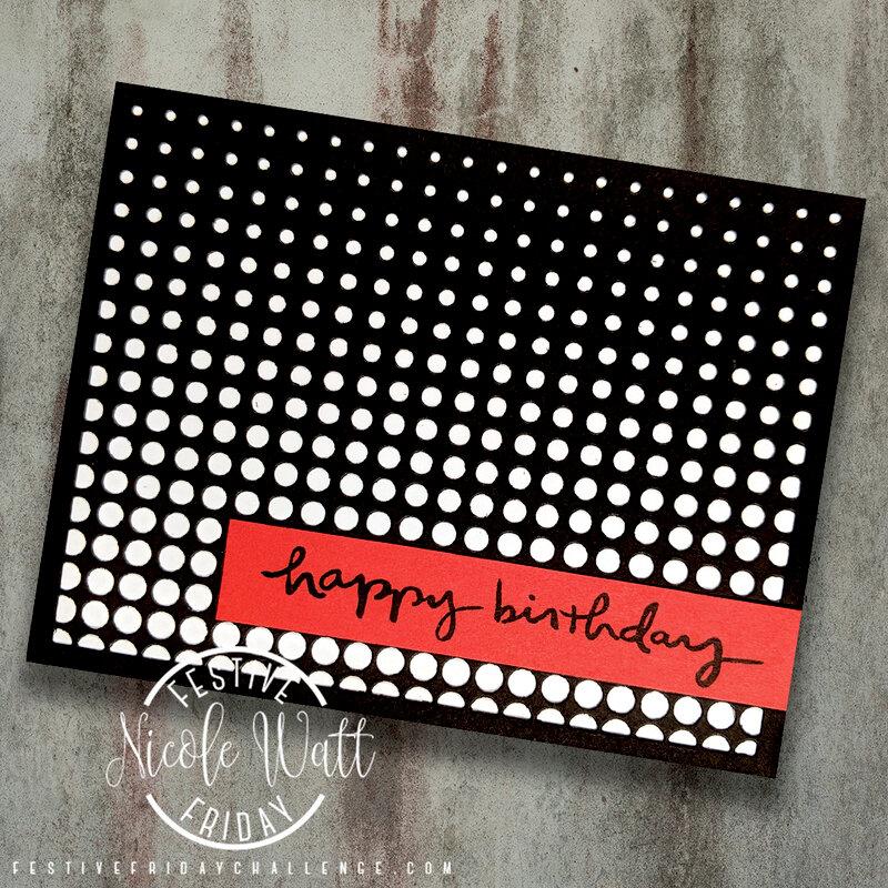 Easy Halftone Card - scrapbook.com exclusive