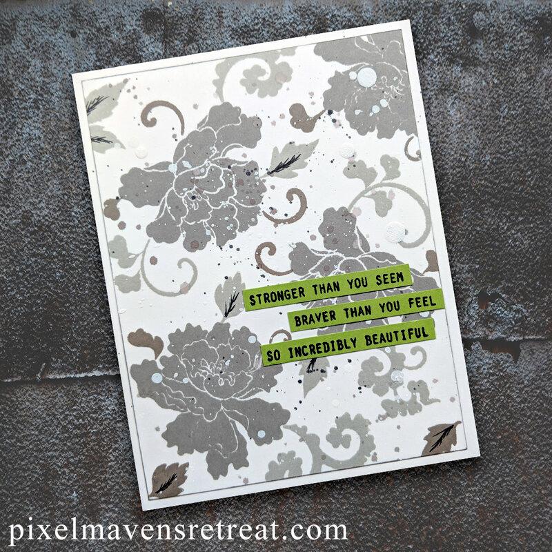 Lacy Scroll Encouragement - Altenew