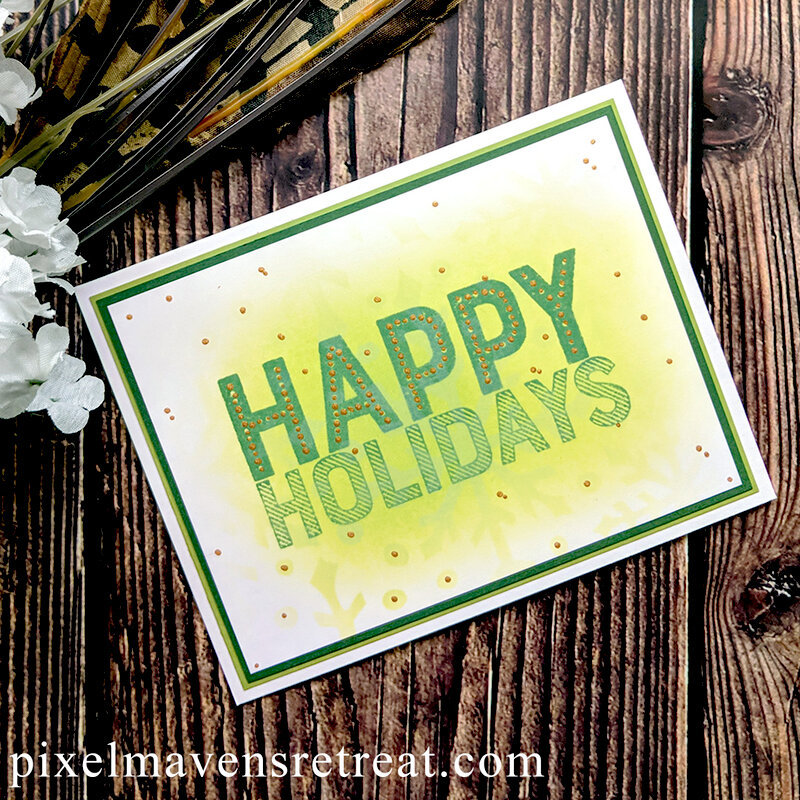 Easy Blended Holiday Cards