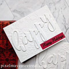 Elegant White Holiday Card