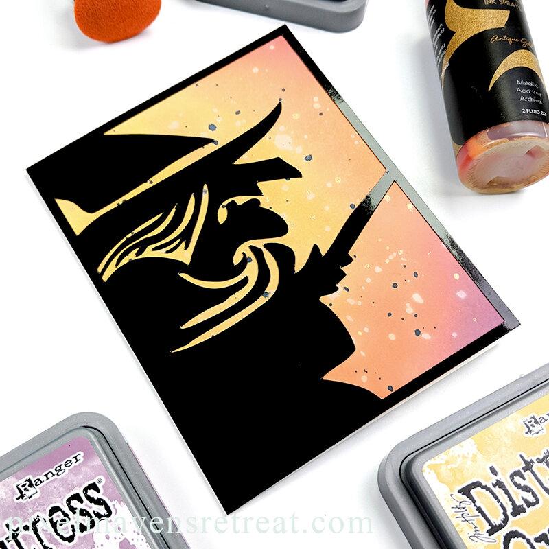 Distress Oxide Blends for Halloween #1
