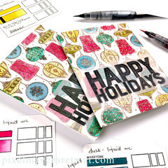 Vintage Baubles Happy Holidays