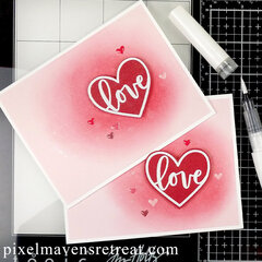Simple & Shimmery Love Card | Scrapbook.com XOXO and Glitter Brush