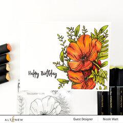 Paint-a-Flower Poppy by Altenew