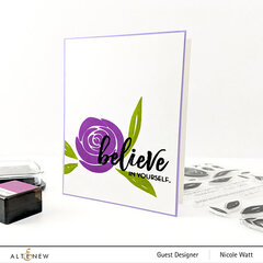 1-Layer Floral Believe   ft. Altenew Watercolor Roses