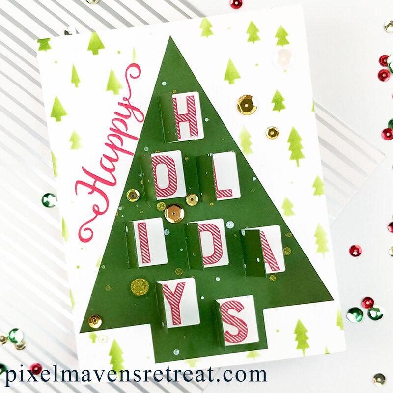 Peek-a-Boo Holiday Card feat. SBC Advent Calendar Cut File