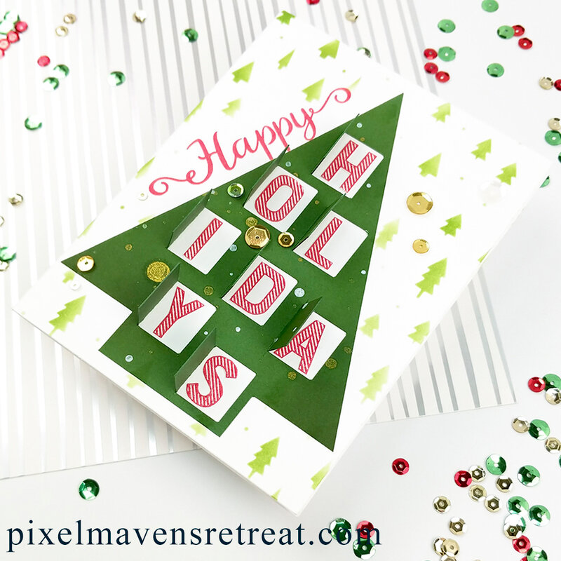 Peek-a-Boo Holiday Card feat. SBC Advent Calendar Cut File