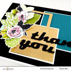 Geometric + Floral Thank You