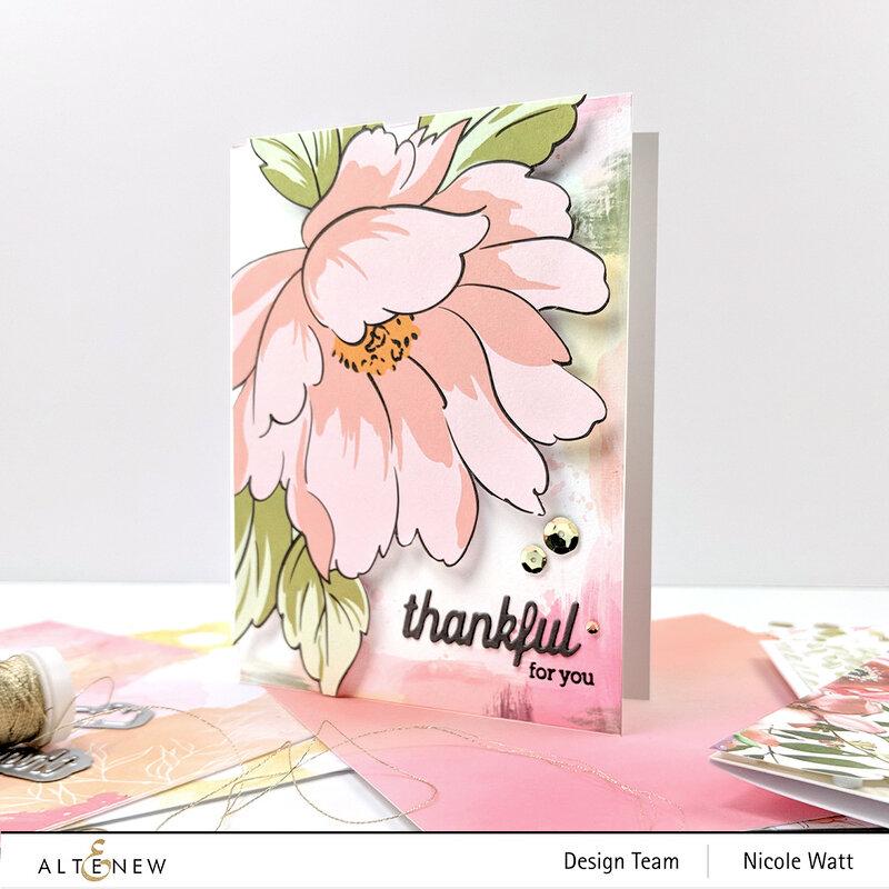 Altenew + Pinkfresh Celebrate Collab - thankful card