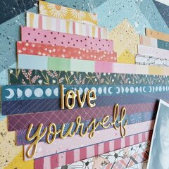 Love Yourself Paper Strip Heart