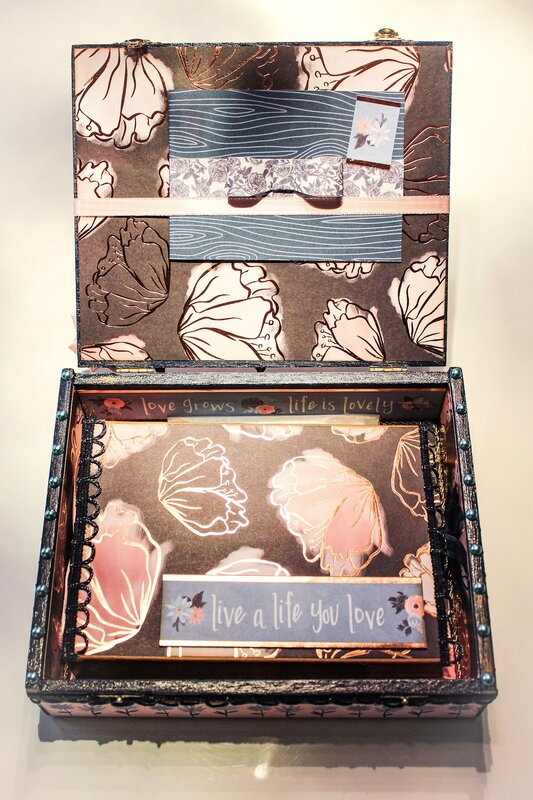 Altered cigar box for Laura