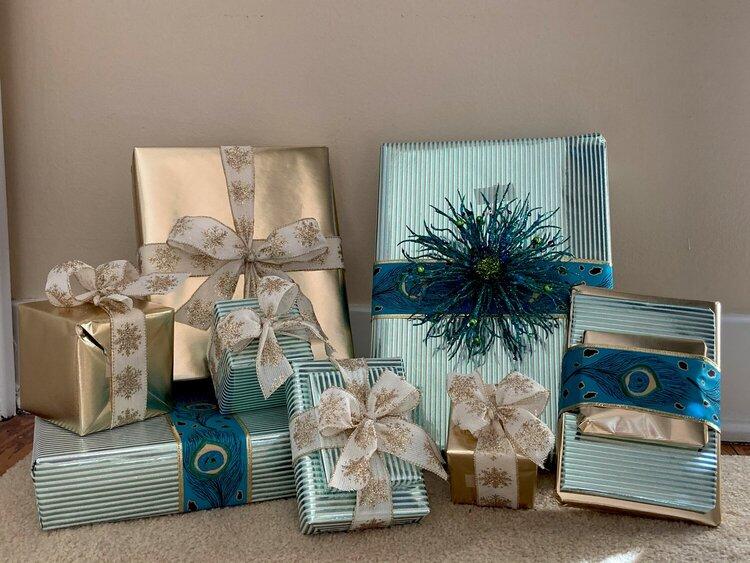 Wrapped Secret Santa Gifts for Caroline