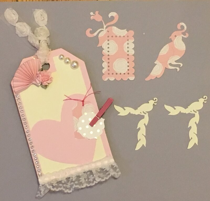 Shabby chic tag and die cuts