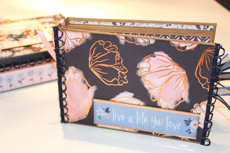 Mini album to match the altered cigar box for Laura