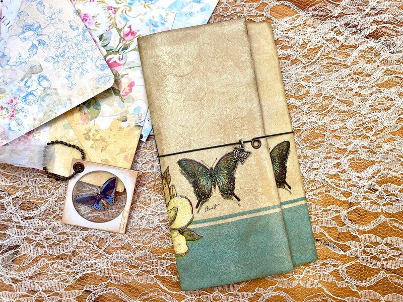 Journaling Booklet Using Paper Napkin