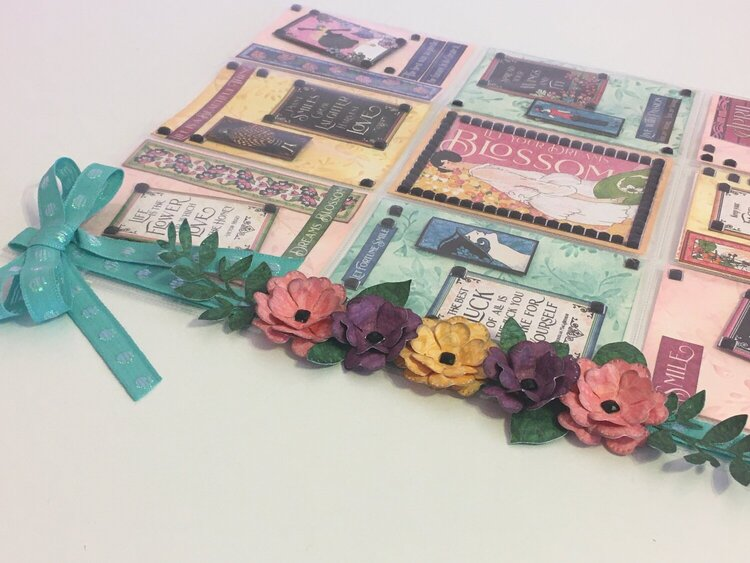 Inspirational pocket letter for Jess using Graphic 45 Fashion Forward