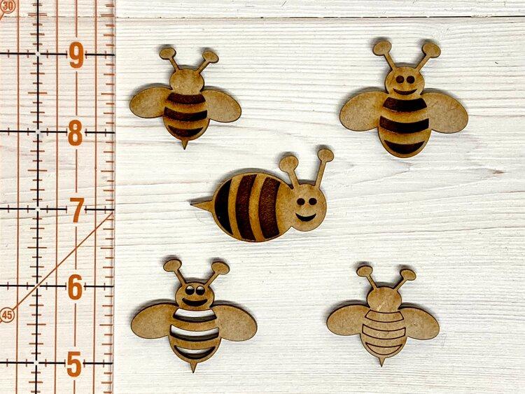 Laser cut Bees - Take 2