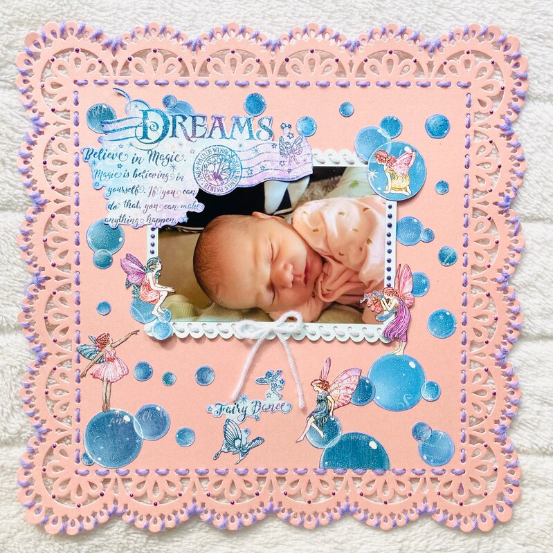 """Graphic 45 Fairie Wings """"Dreams"""" Layout"""