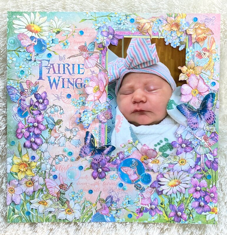 Graphic 45 Fairie Wings Layout