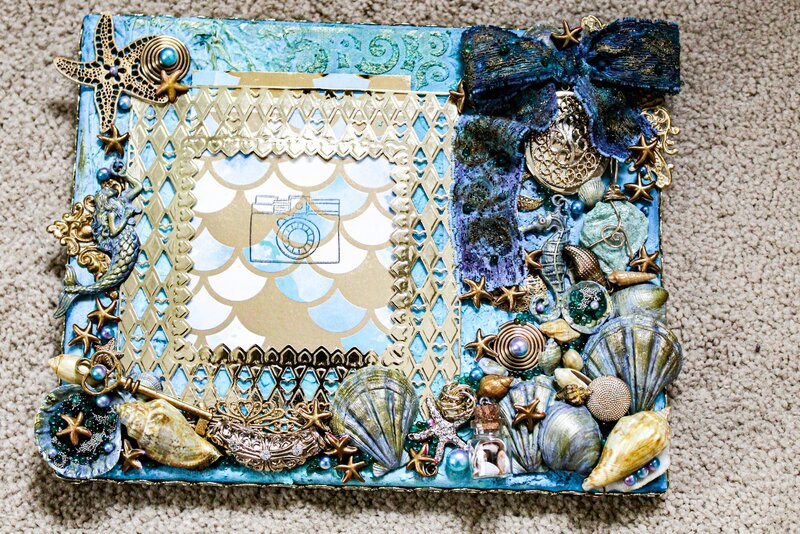 """""""Under the Sea"""" altered canvas for Caroline"""