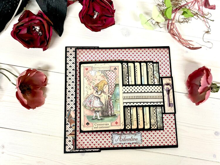 Alice in Wonderland Mini Album - FotoBella Design Team Project