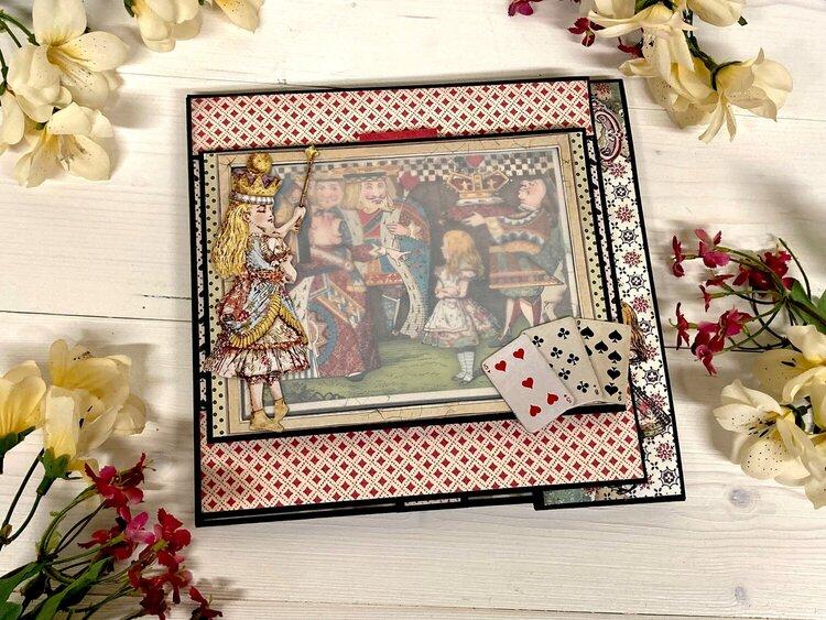 Stamperia Alice in Wonderland Mini Album for FotoBella Design Team