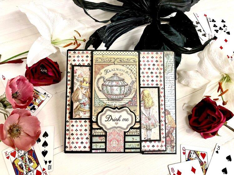 Part 4 of Alice in Wonderland Mini Album for FotoBella Design Team