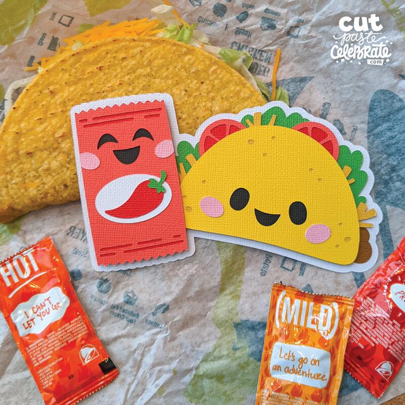 Tacos & Hot Sauce SVG Cut File