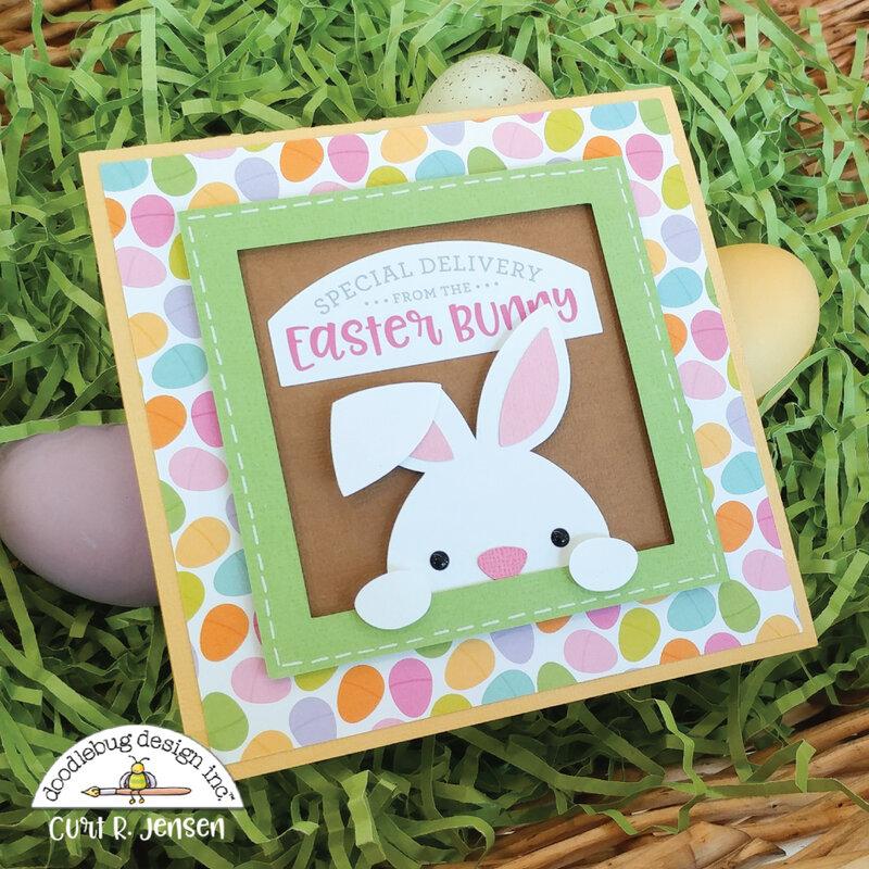 Easter Basket Pop-Up Card - OUTSIDE