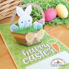 Easter Basket Pop-Up Card - INSIDE