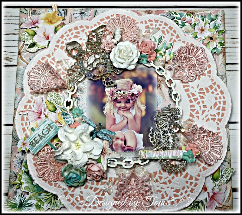 """Paradise"" layout *Reneabouquets"